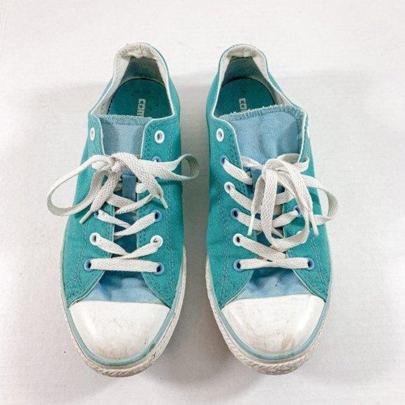 Converse Turquoise All Star Chuck Taylor Low Tops